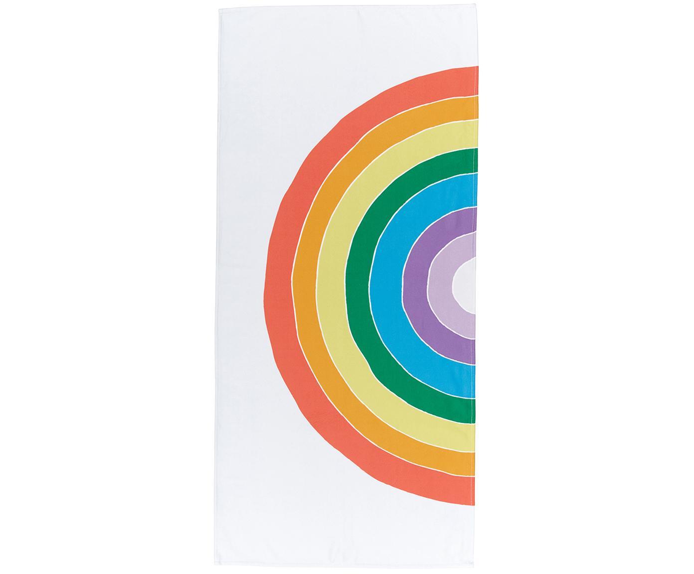 Ręcznik plażowy Rainbow, 55% poliester, 45% bawełna Bardzo niska gramatura, 340 g/m², Wielobarwny, S 70 x D 150 cm