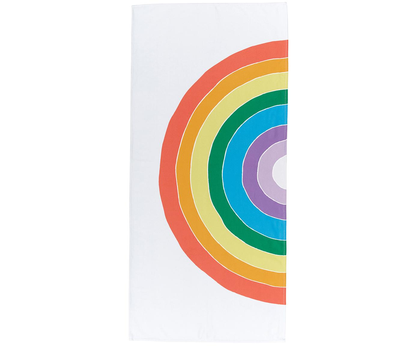 Telo mare leggero con motivo arcobaleno Rainbow, 55% poliestere, 45% cotone, qualità molto leggera 340 g/m², Multicolore, Larg. 70 x Lung. 150 cm