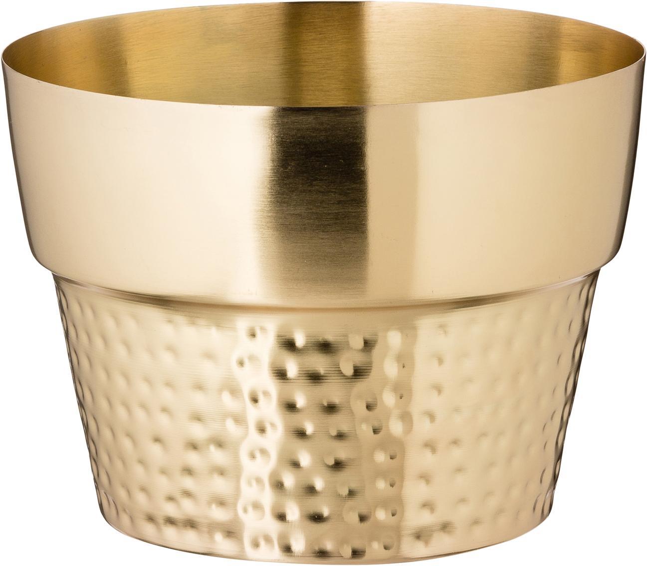 Porta vaso in acciaio inossidabile Tibor, Accaio inossidabile, verniciato, Dorato, Ø 17 x Alt. 13 cm