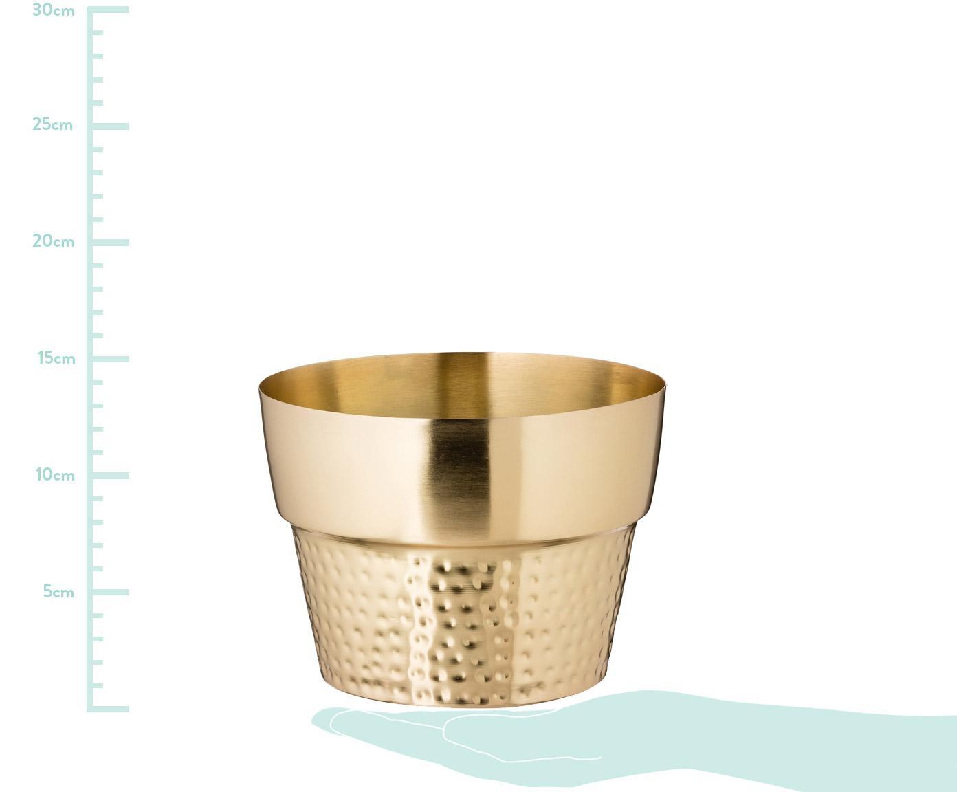 Porta vaso Tibor, Accaio inossidabile, verniciato, Dorato, Ø 17 x A 13 cm
