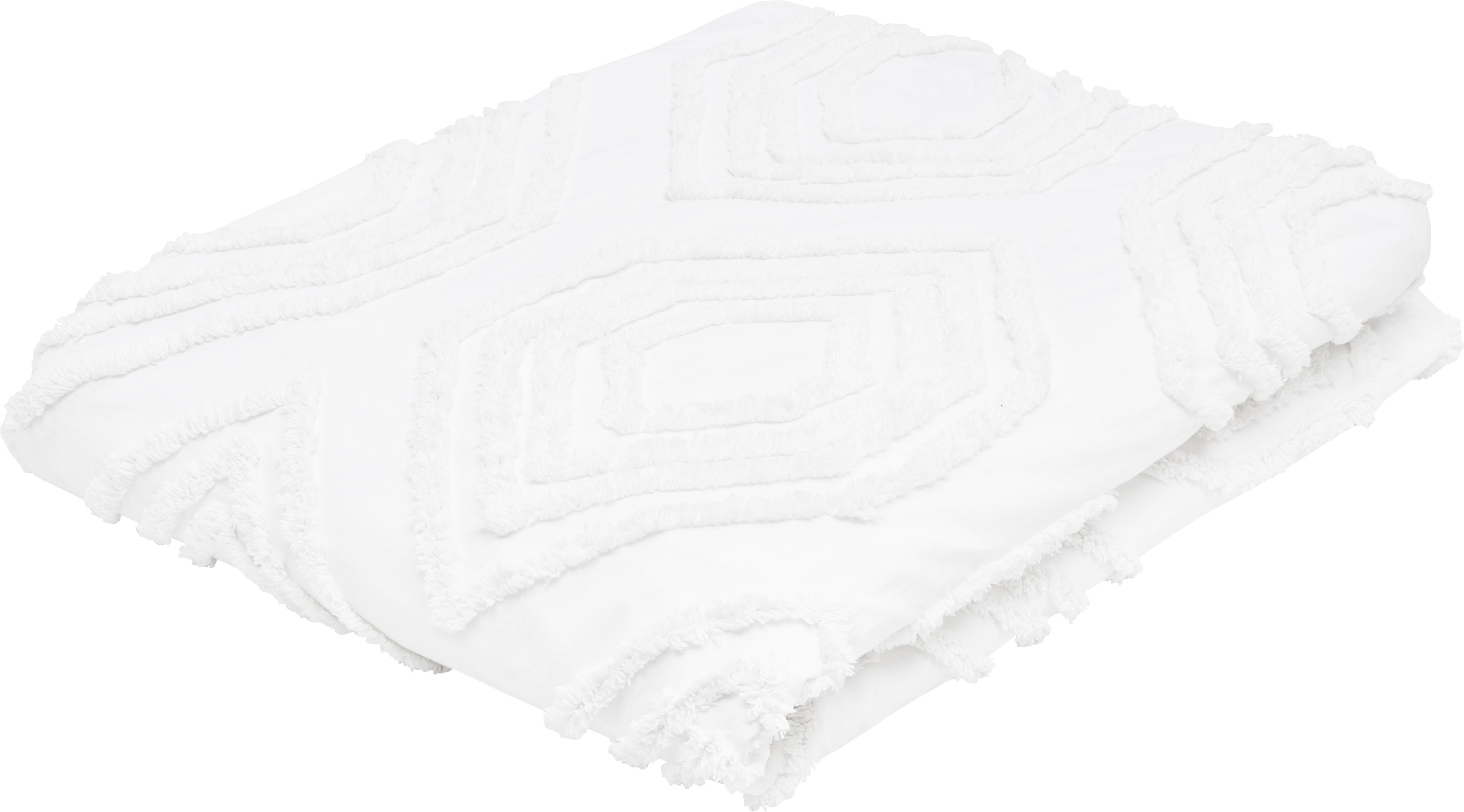 Colcha bordada Faye, 100%algodón, Blanco, An 240 x L 260 cm