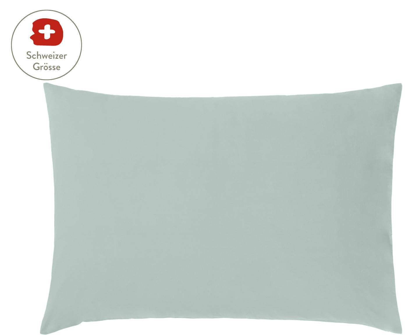 Baumwollperkal-Kissenbezug Elsie in Salbeigrün, Webart: Perkal Fadendichte 200 TC, Salbeigrün, 50 x 70 cm