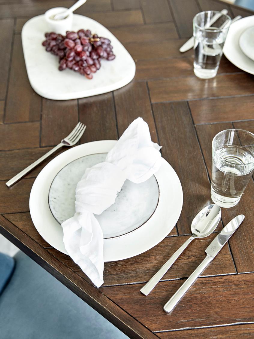 Leinen-Servietten Ruta, 6 Stück, Schneeweiß, 43 x 43 cm