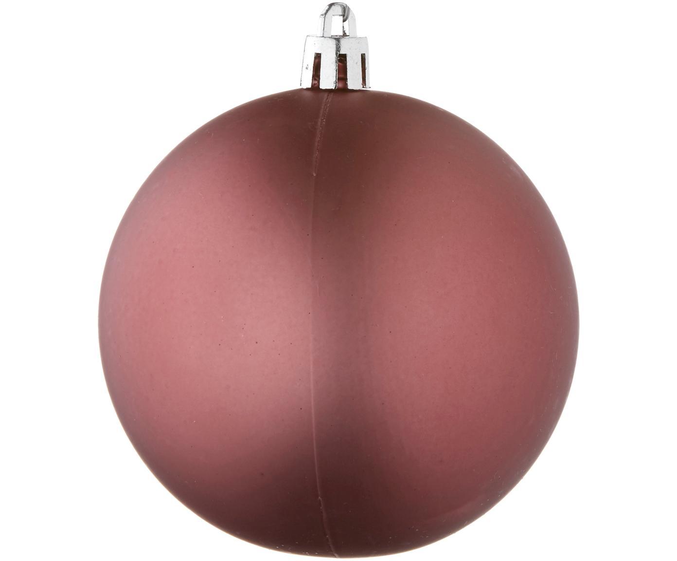 Weihnachtskugel-Set Natalie, 46-tlg., Kunststoff, Dunkelrosa, Sondergrößen