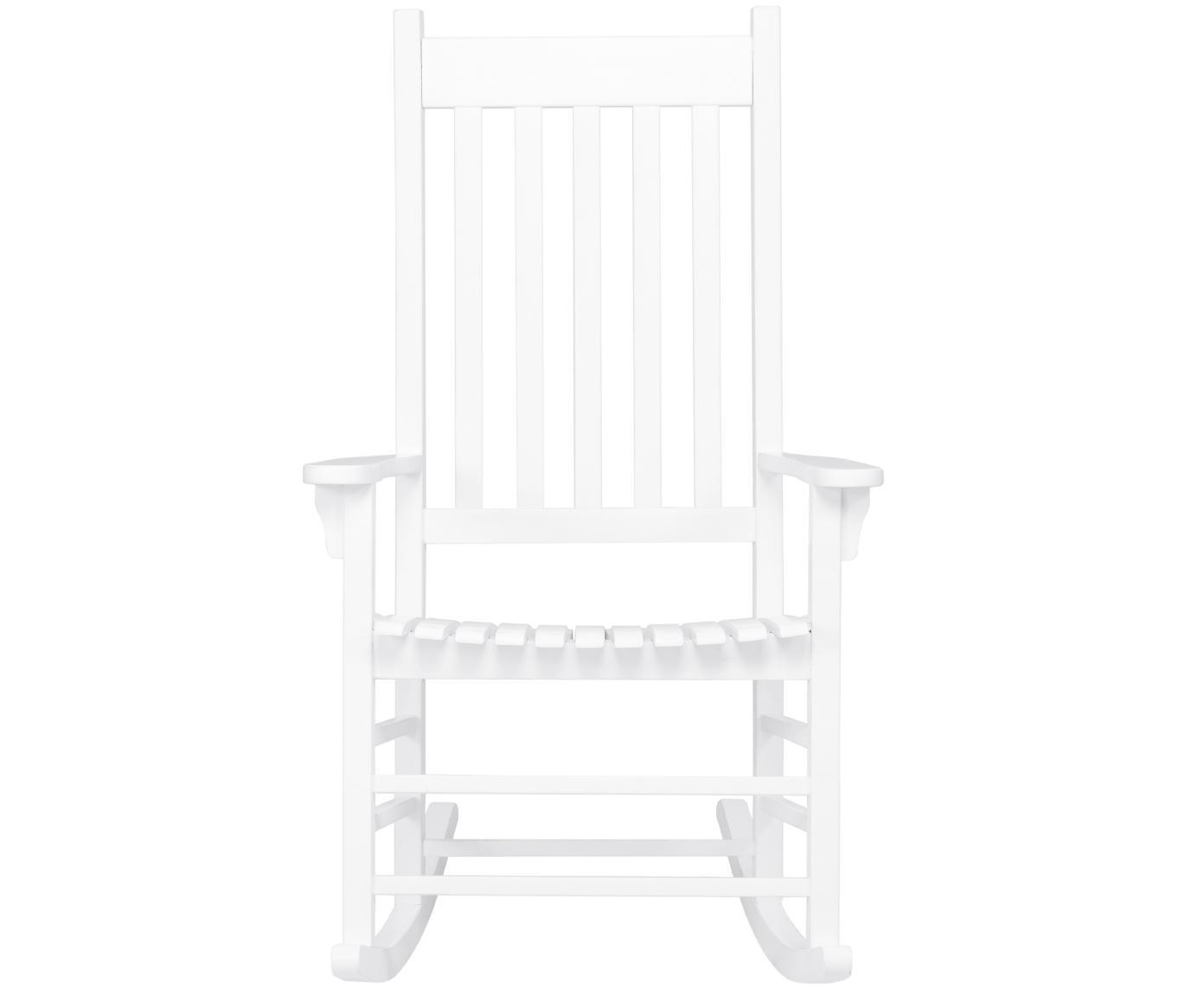 Outdoor schommelstoel Bay, Gelakt acaciahout, Wit, B 84  x D 68 cm