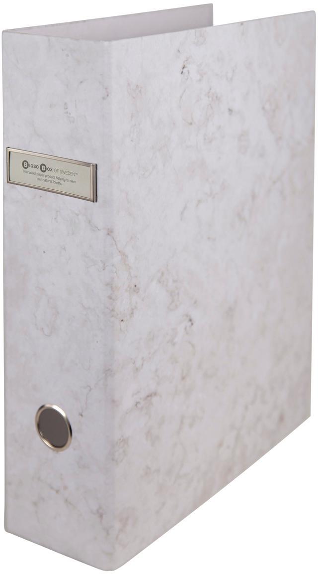 Dokumentenordner Archie, 2Stück, Weiss, marmoriert, 29 x 32 cm