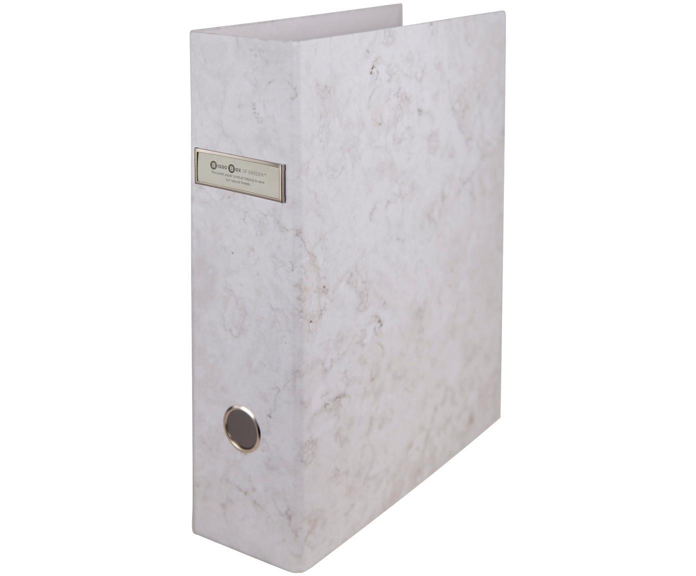 Cartella portadocumenti Archie, 2 pz, Bianco, marmorizzato, L 29 x A 32 cm