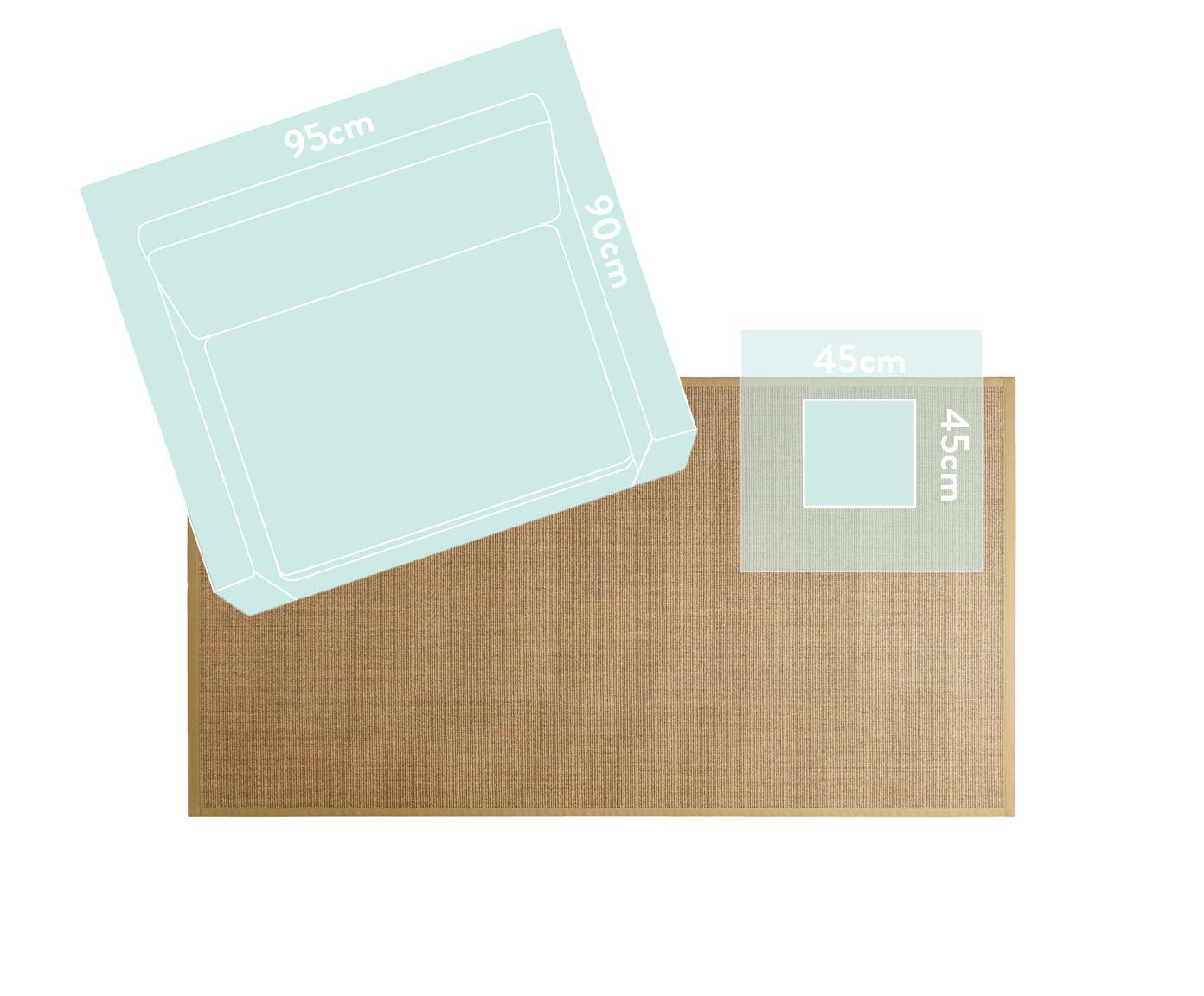 Sisalteppich Leonie in Beige, Vorderseite: 100% Sisalfaser, Rückseite: Latex, Beige, B 300 x L 400 cm (Größe XL)