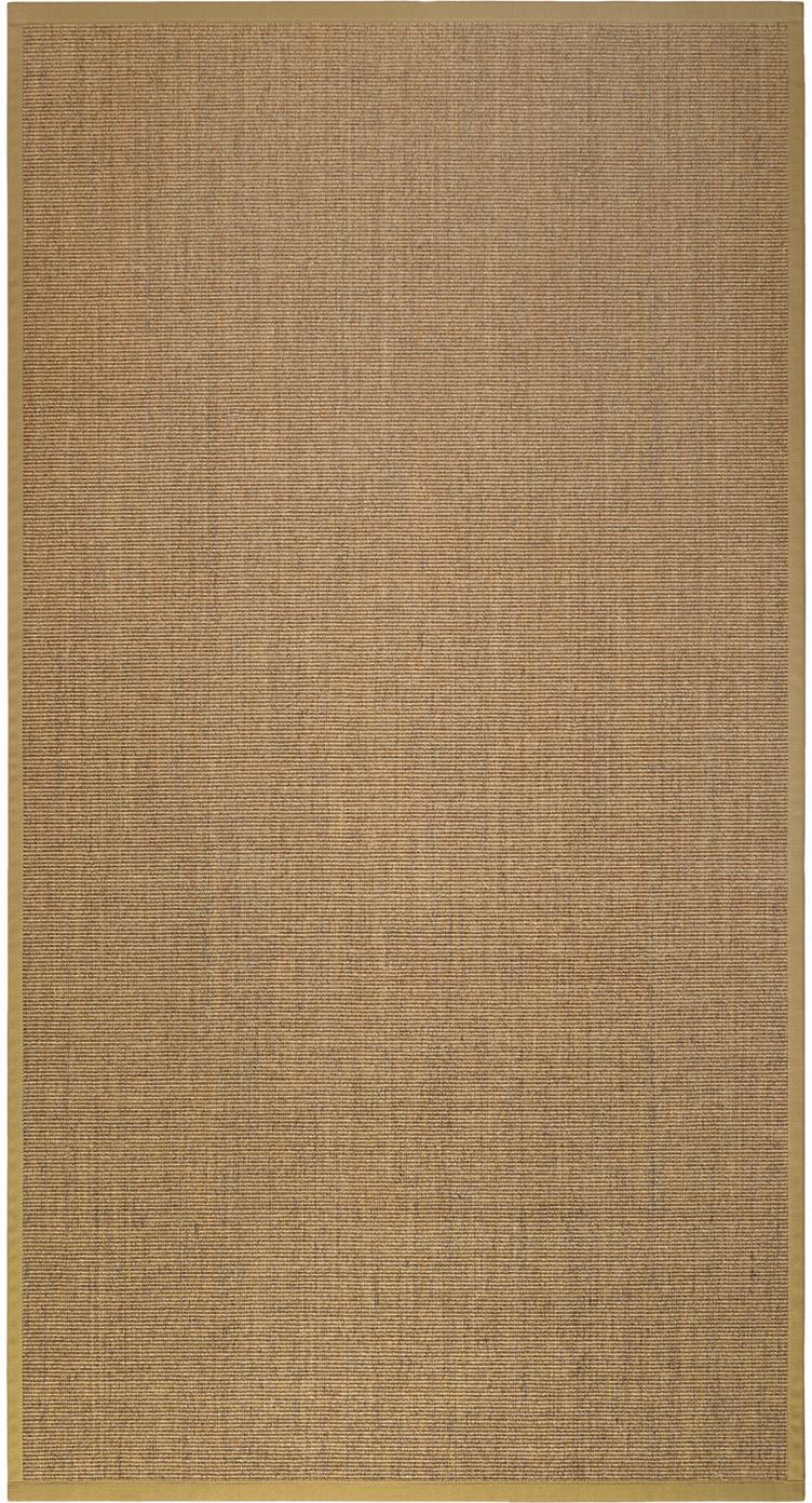 Alfombra de sisal Leonie, Parte superior: 100%fibra de sisal, Parte trasera: látex, Beige, An 80 x L 150  cm(Tamaño XS)