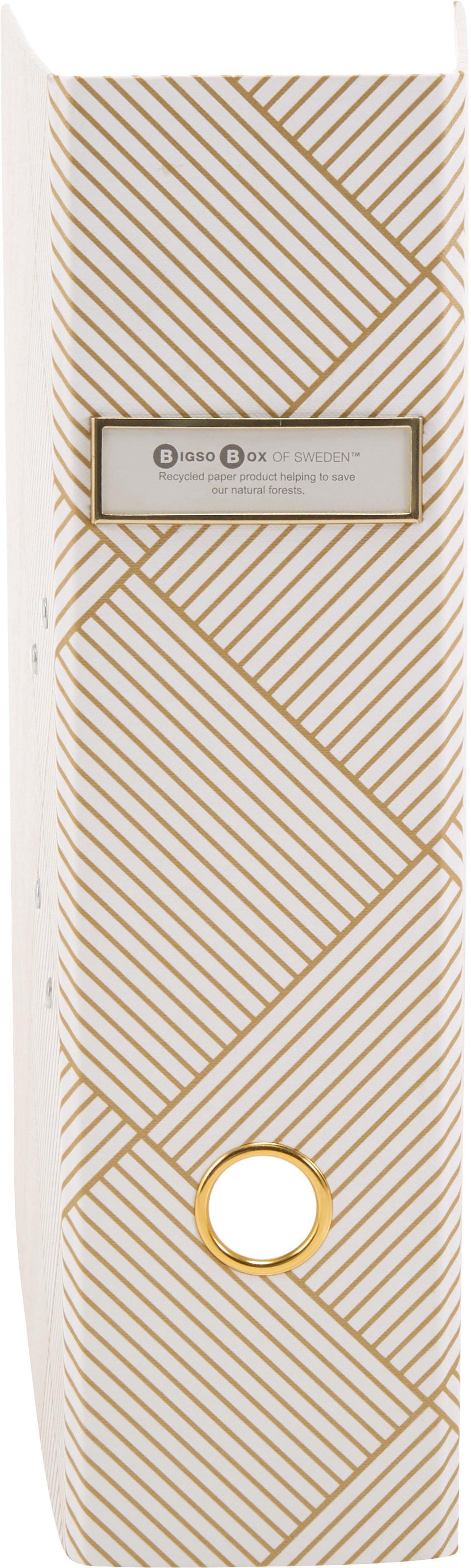 Cartella portadocumenti Archie, Dorato, bianco, Larg. 29 x Alt. 32 cm