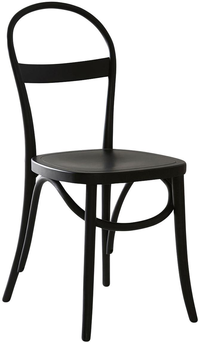 Holzstühle Rippats, 2 Stück, Birkenholz, gebeizt, Schwarz, B 40 x T 40 cm