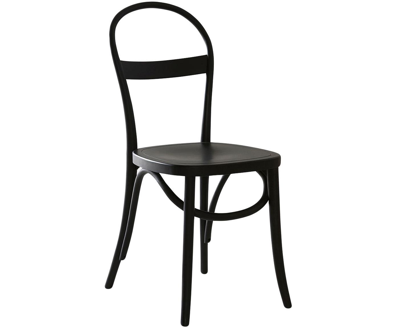 Houten stoelen Rippats, 2 stuks, Berkenhout, gebeitst, Zwart, B 40 x D 40 cm