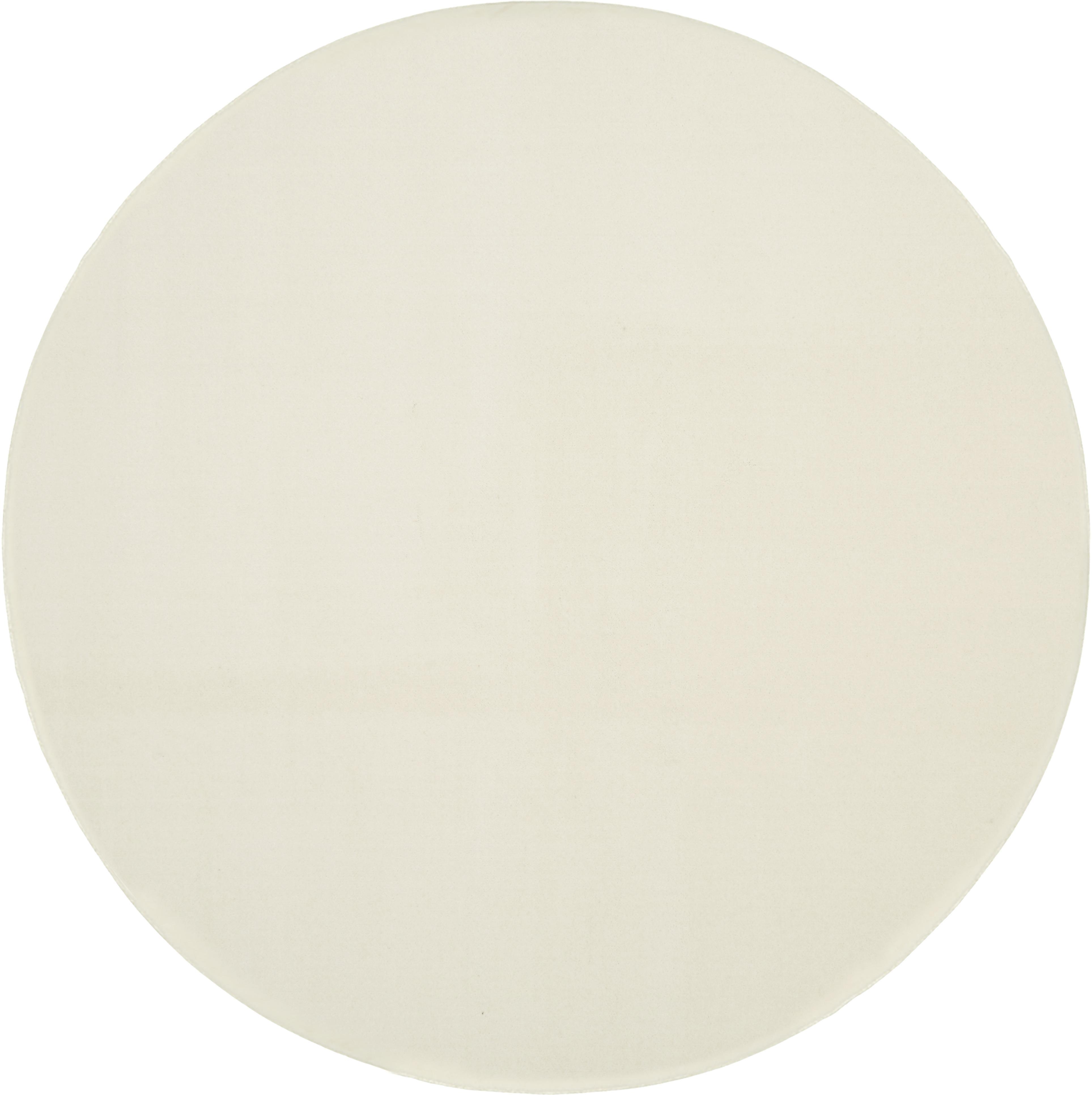 Tappeto rotondo in lana beige Ida, Retro: poliestere, Beige, Ø 120 cm