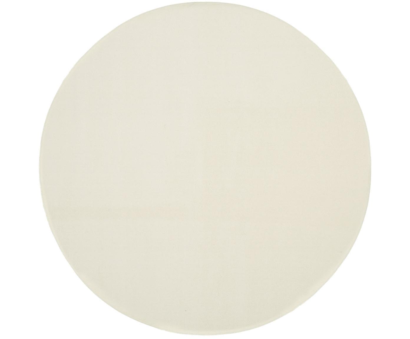 Rond wollen vloerkleed Ida in beige, Bovenzijde: wol, Onderzijde: polyester, Beige, Ø 120 cm