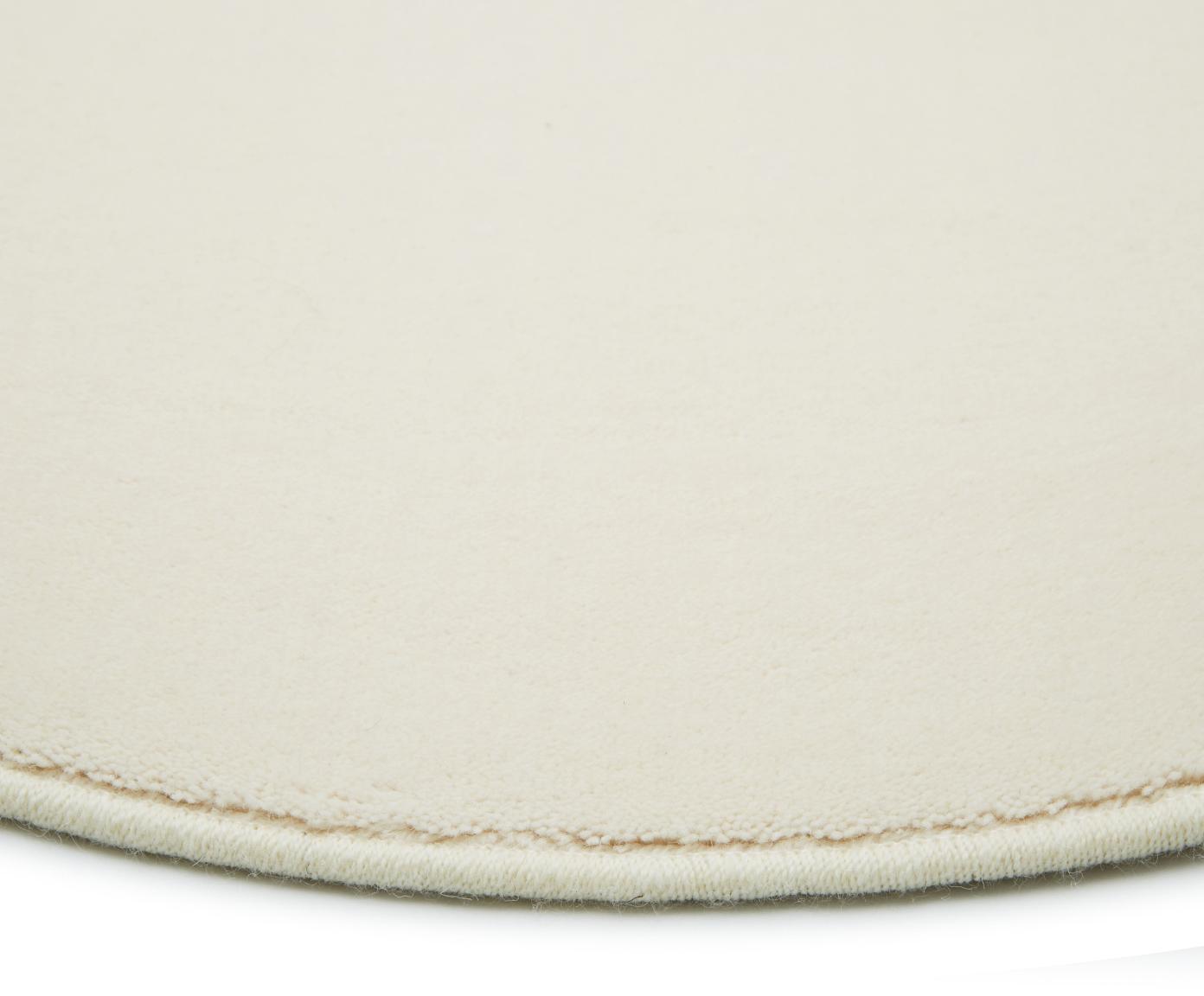 Tappeto rotondo in lana beige Ida, Vello: lana, Retro: poliestere, Beige, Ø 200 cm