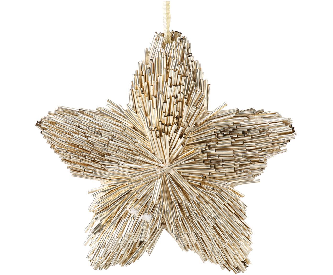 Decoratieve hangers Callum, 2 stuks, Goudkleurig, Ø 16 x D 4 cm