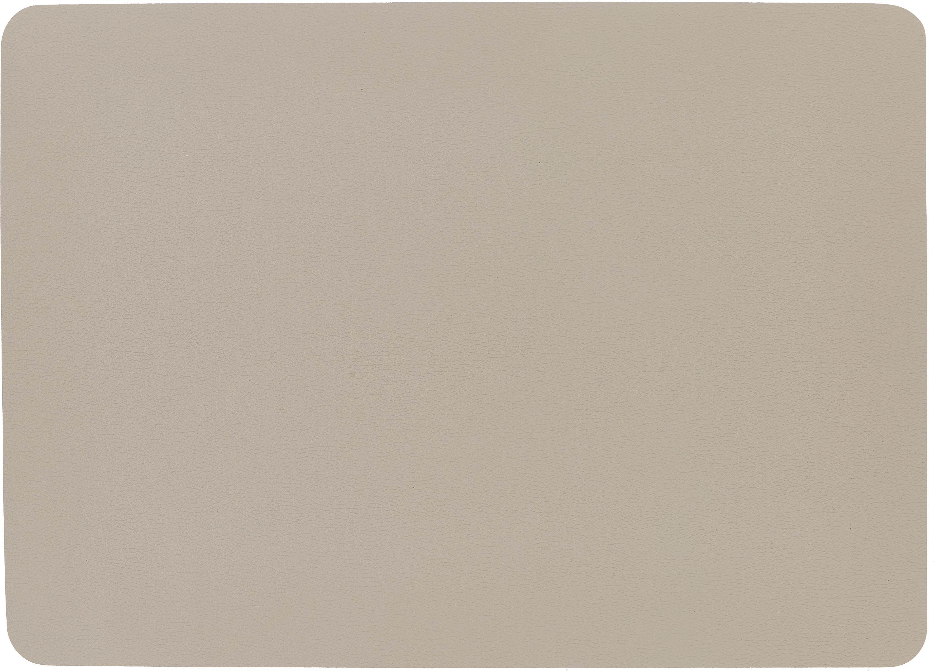 Kunstleren placemats Asia, 2 stuks, Kunstleer (PVC), Beige, 33 x 46 cm