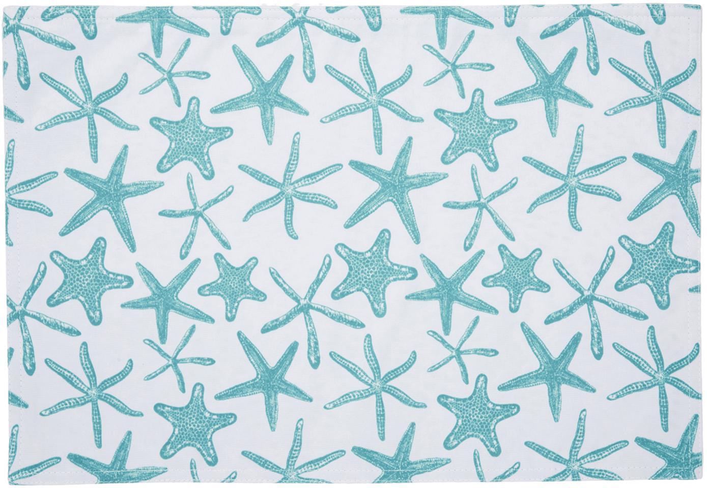 Wodoodporna podkładka Starbone, 2 szt., Poliester, Biały, niebieski, S 33 x D 48 cm