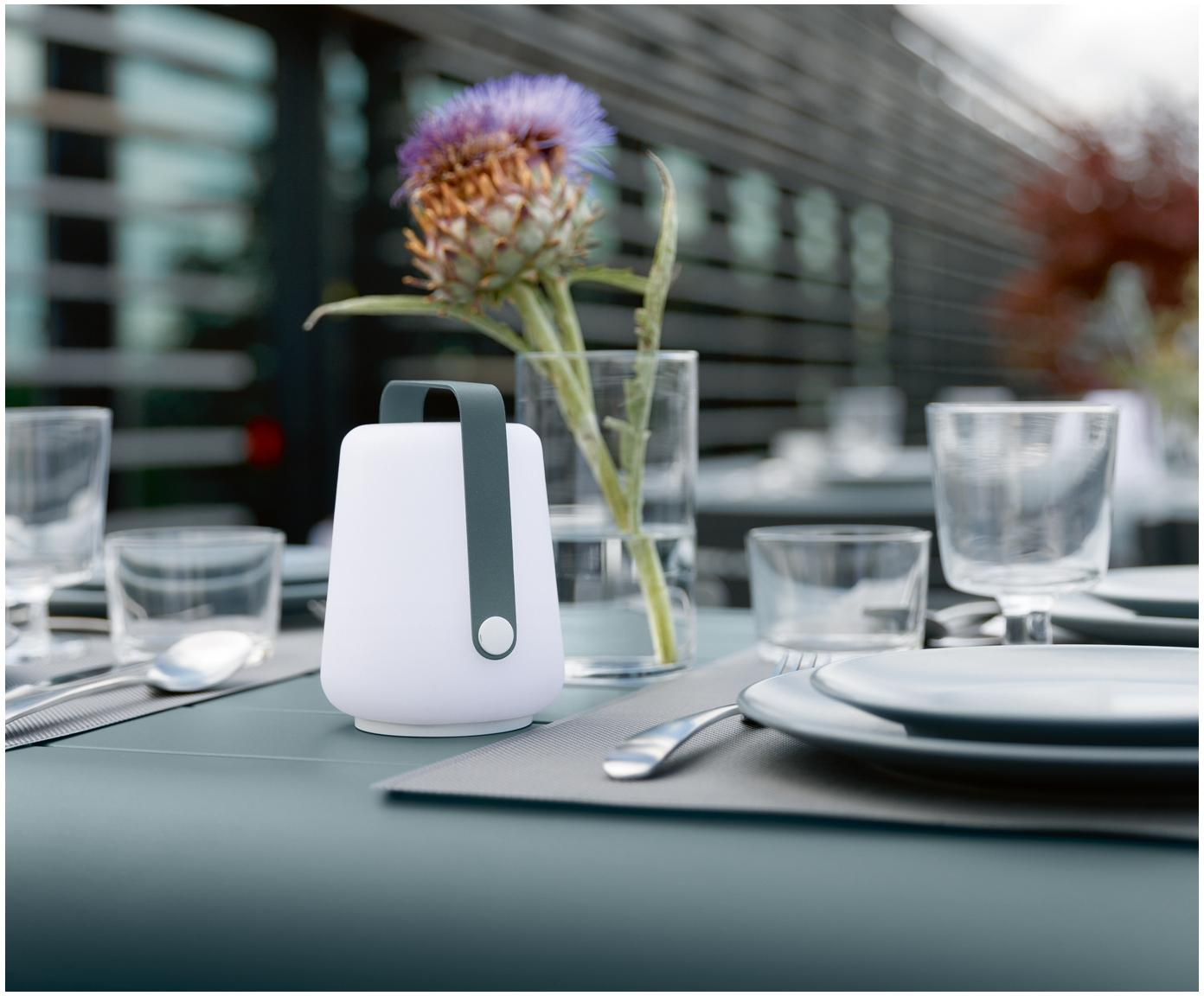 Mobiele outdoor LED lampen Balad, 3 stuks, Lampenkap: polyethyleen, Grijs, Ø 10 x H 13 cm