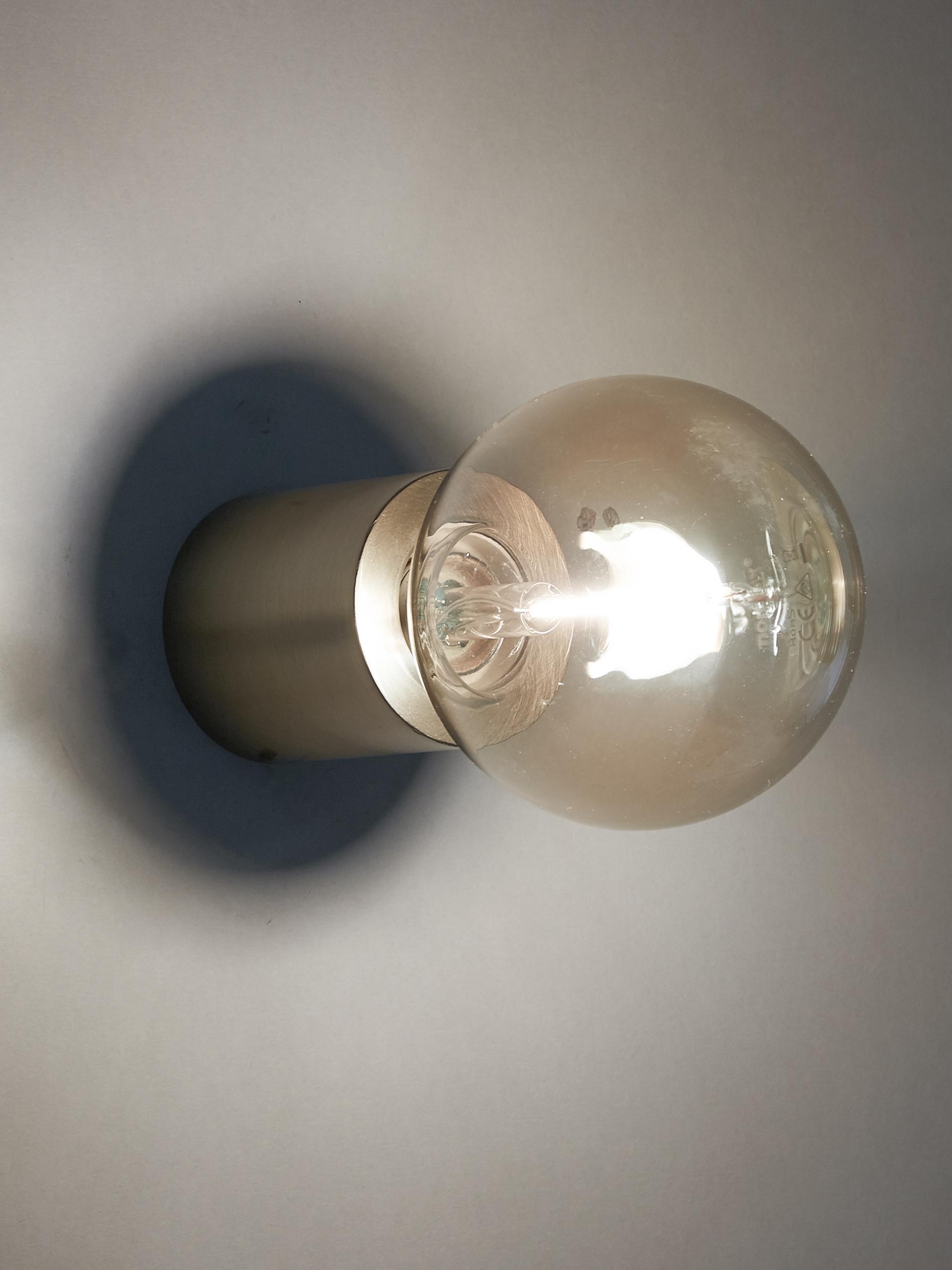 Applique Chanty, Metallo ottonato, Ottone spazzolato, Ø 6 cm