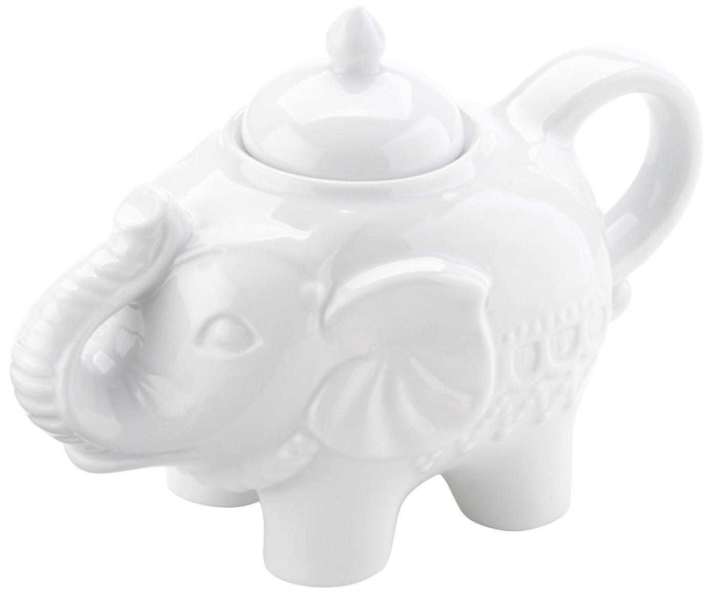 Azucarero Elephant, Porcelana, Blanco, An 15 x Al 12 cm