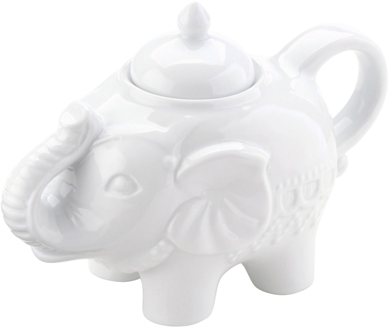 Suikerpot Elephant, Porselein, Wit, 15 x 12 cm