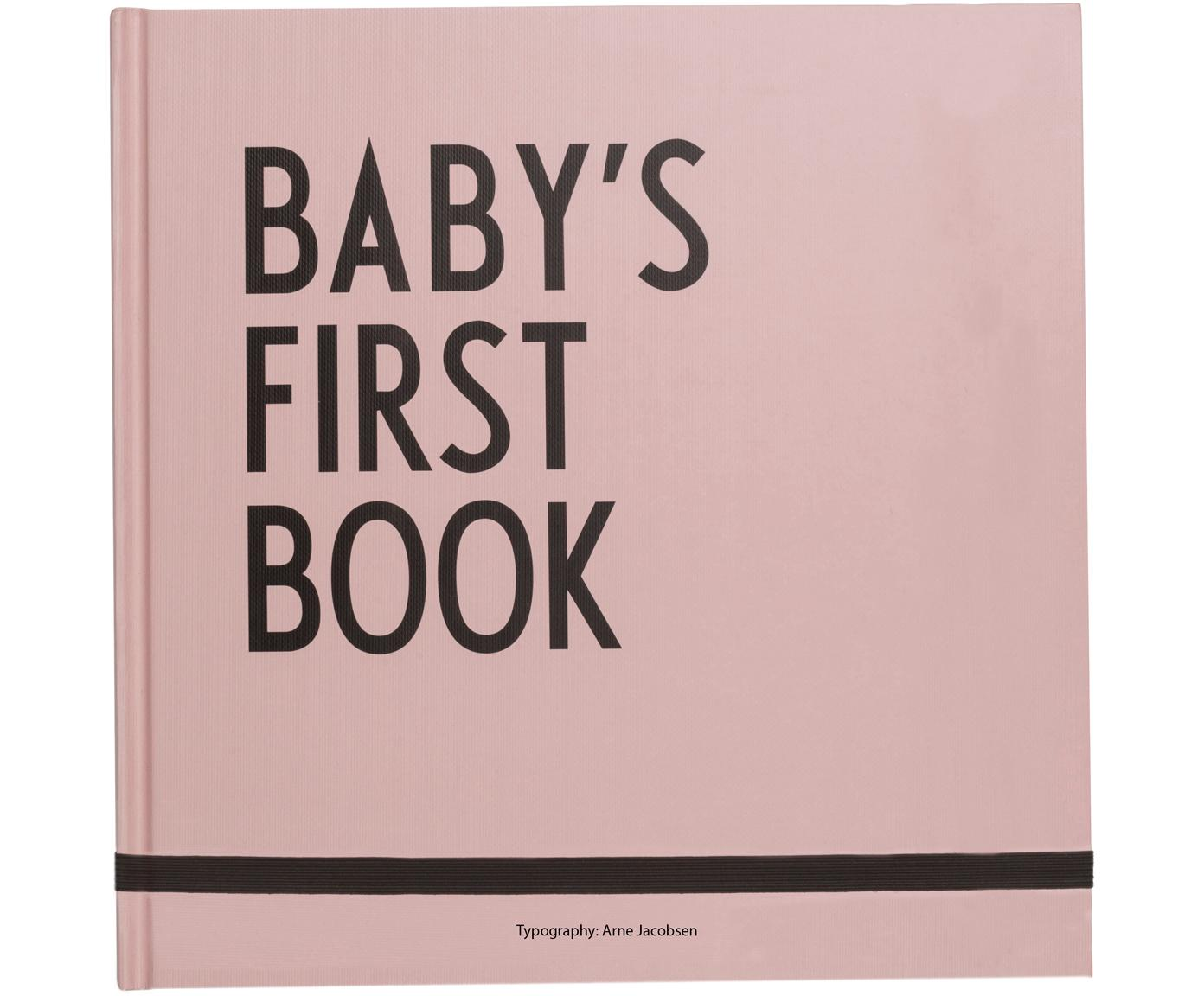 Babyboek Baby´s First Book, Papier, Roze, 25 x 25 cm