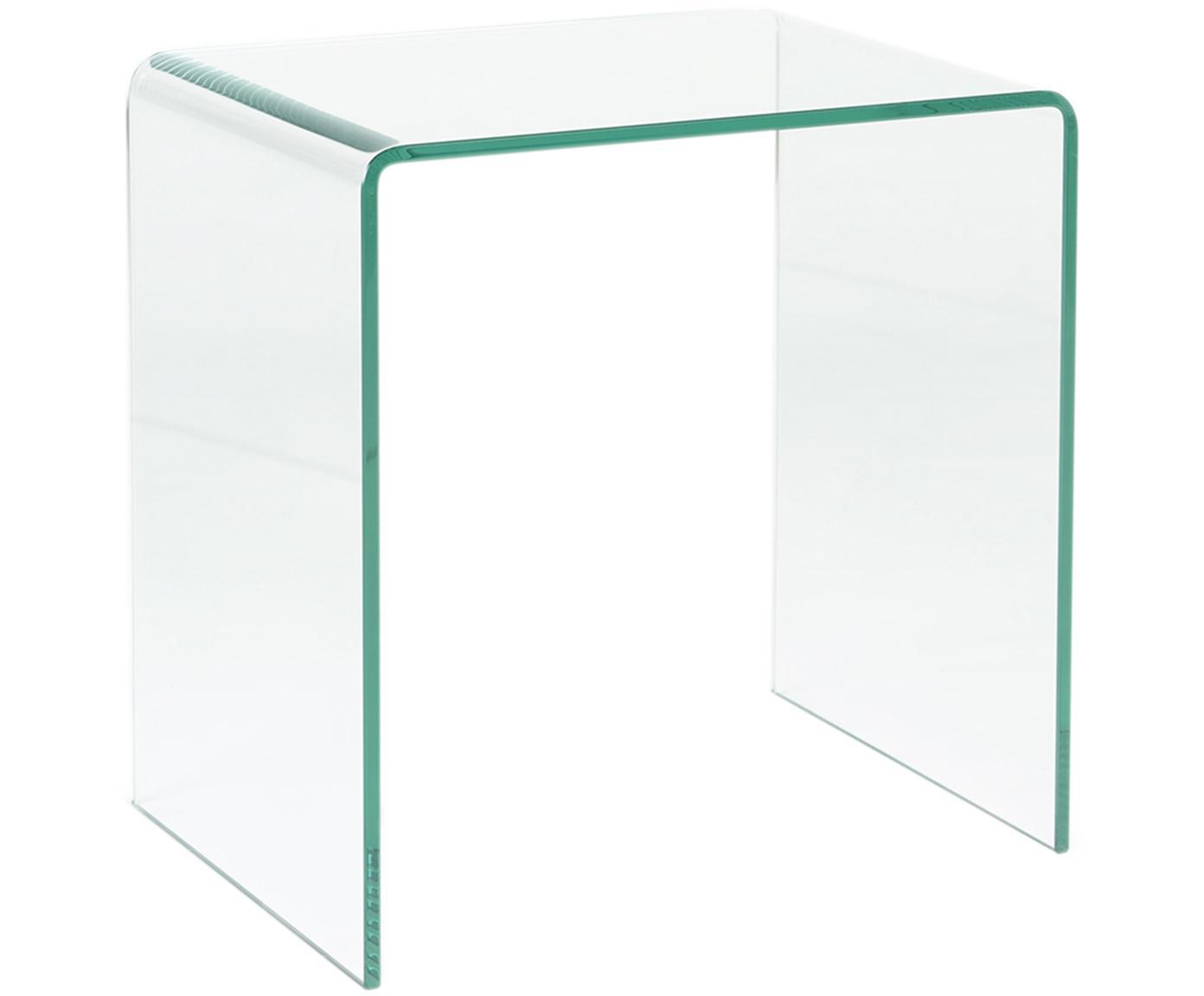 Mesilla de noche Double, Vidrio templado, Transparente, An 50 x Al 53 cm