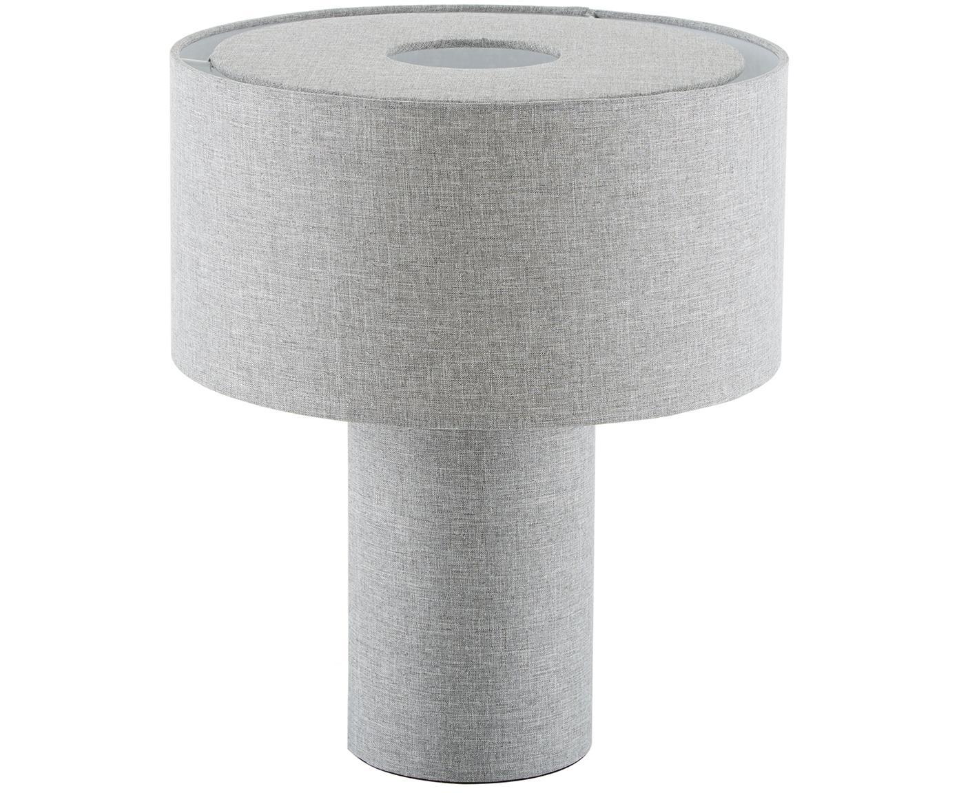 Lampa stołowa Ron, Klosz: szary Podstawa lampy: szary Kabel: czarny, Ø 30 x W 35 cm