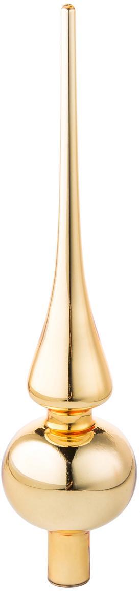 Weihnachtsbaumspitze Brilliance, Glas, Goldfarben, Ø 6 x H 26 cm