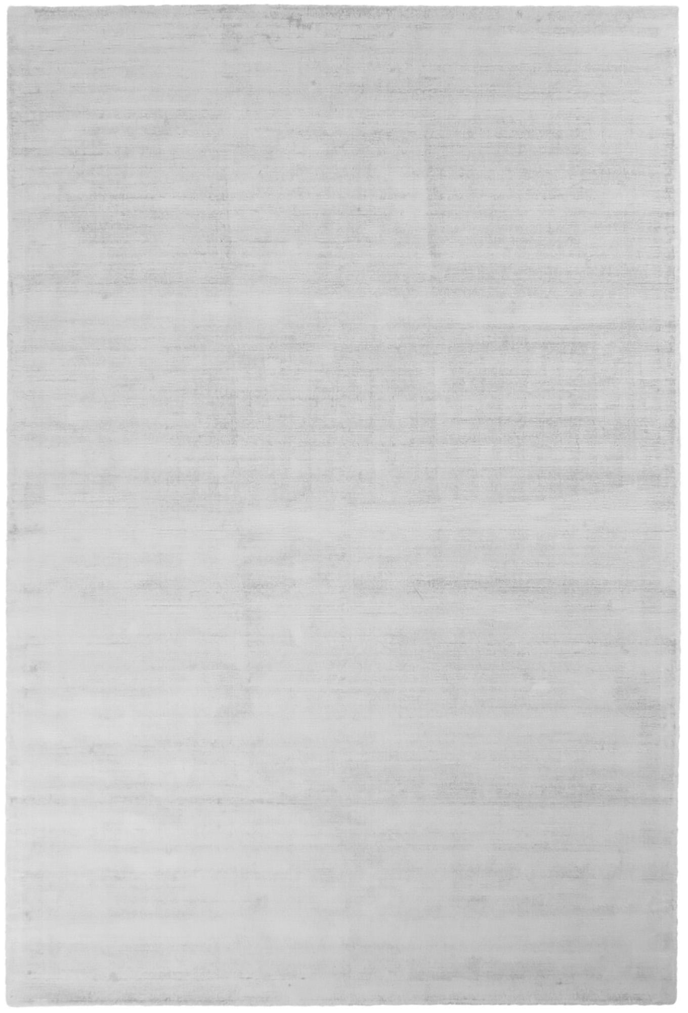 Tappeto in viscosa tessuto a mano Jane, Retro: 100% cotone, Grigio argento, Larg. 200 x Lung. 300 cm (taglia L)