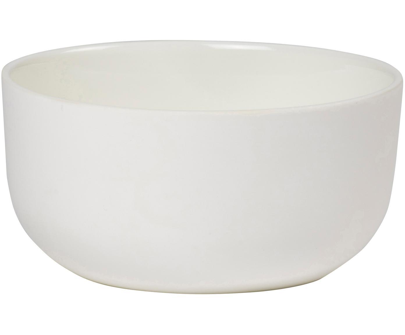 Schälchen Nudge in Weiß matt/glänzend, 4 Stück, Porzellan, Gebrochenes Weiß, Ø 14 cm