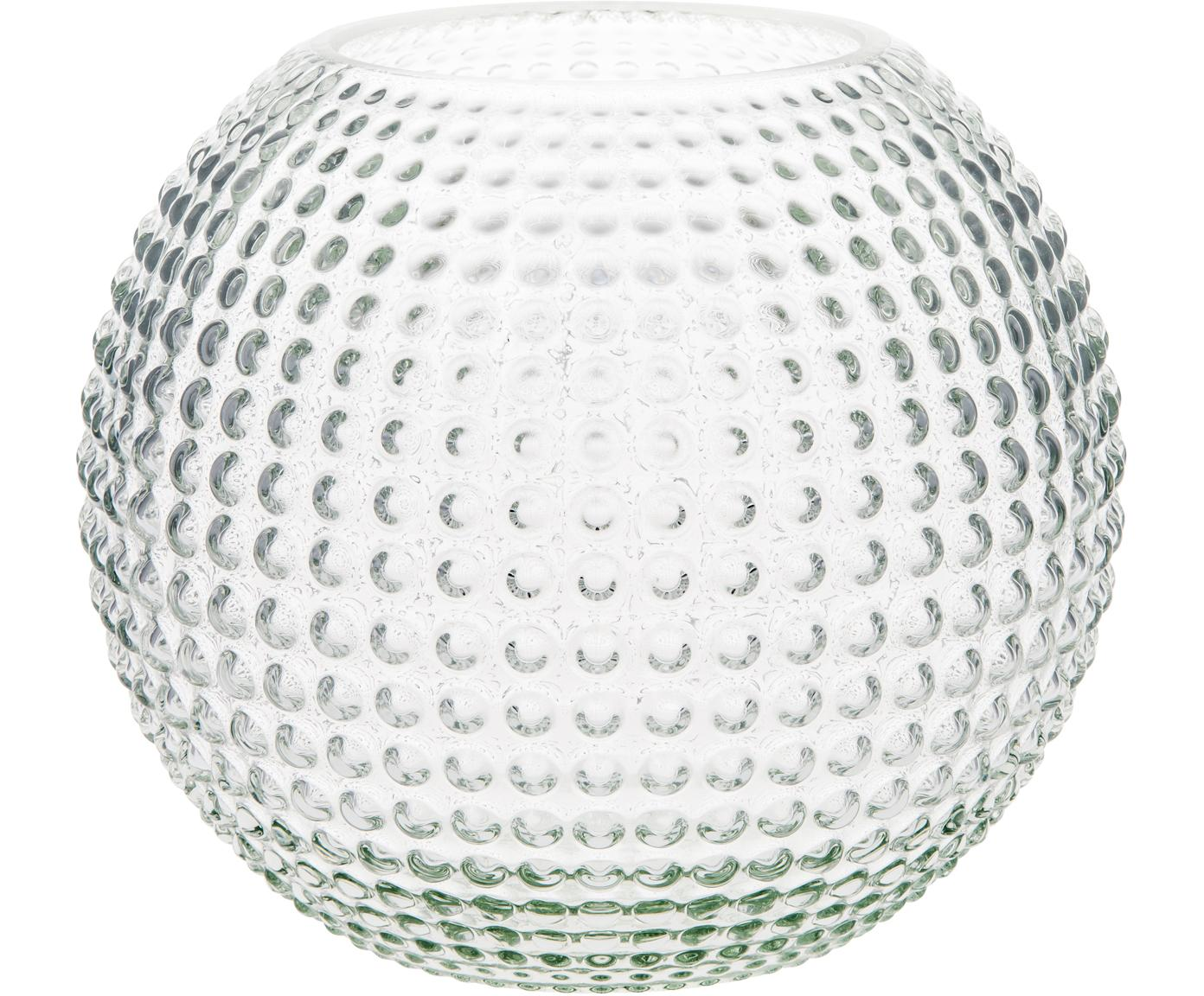Kleine Glas-Vase Flora, Glas, Transparent, Ø 15 x H 13 cm
