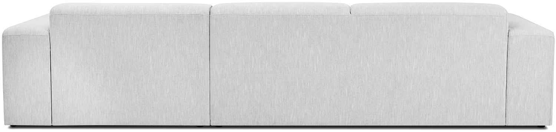 Sofa narożna Melva (4-osobowa), Tapicerka: poliester 35000 cykli w , Stelaż: lite drewno sosnowe, płyt, Nogi: drewno sosnowe, Jasny szary, S 319 x G 144 cm