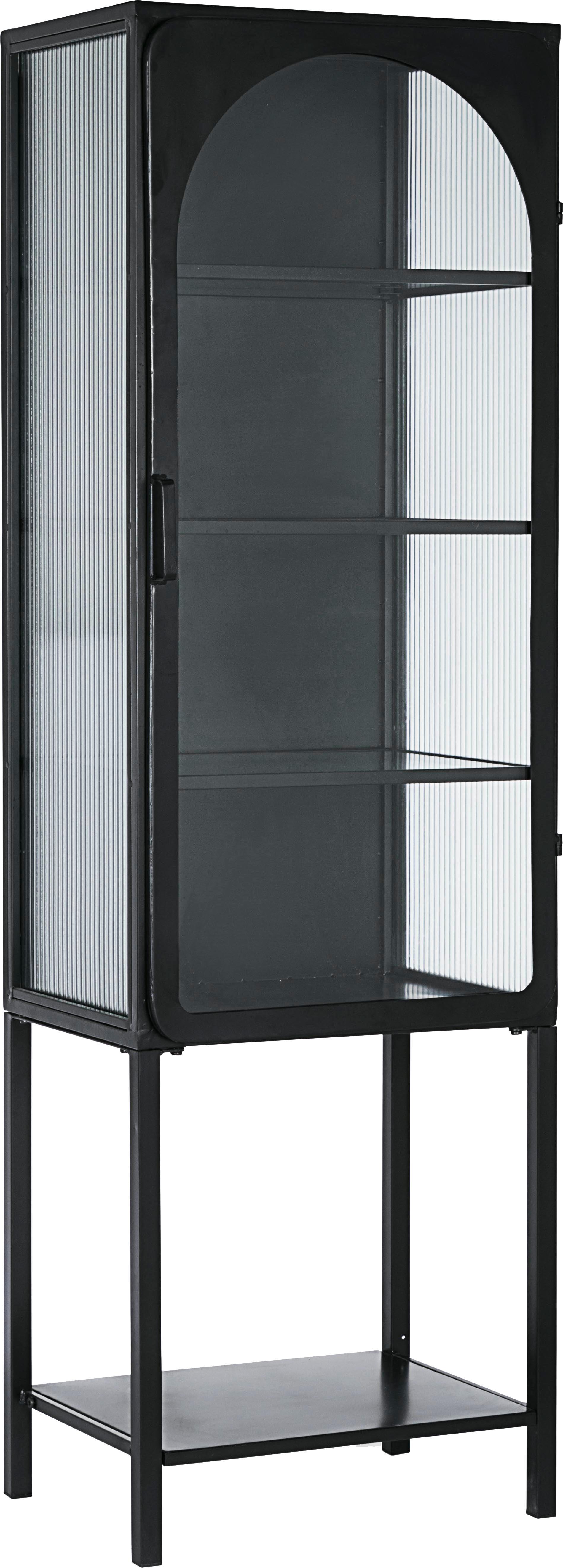 Witryna Nerissa, Stelaż: stal epoksydowana, malowa, Czarny, transparentny, S 50 x G 40 cm