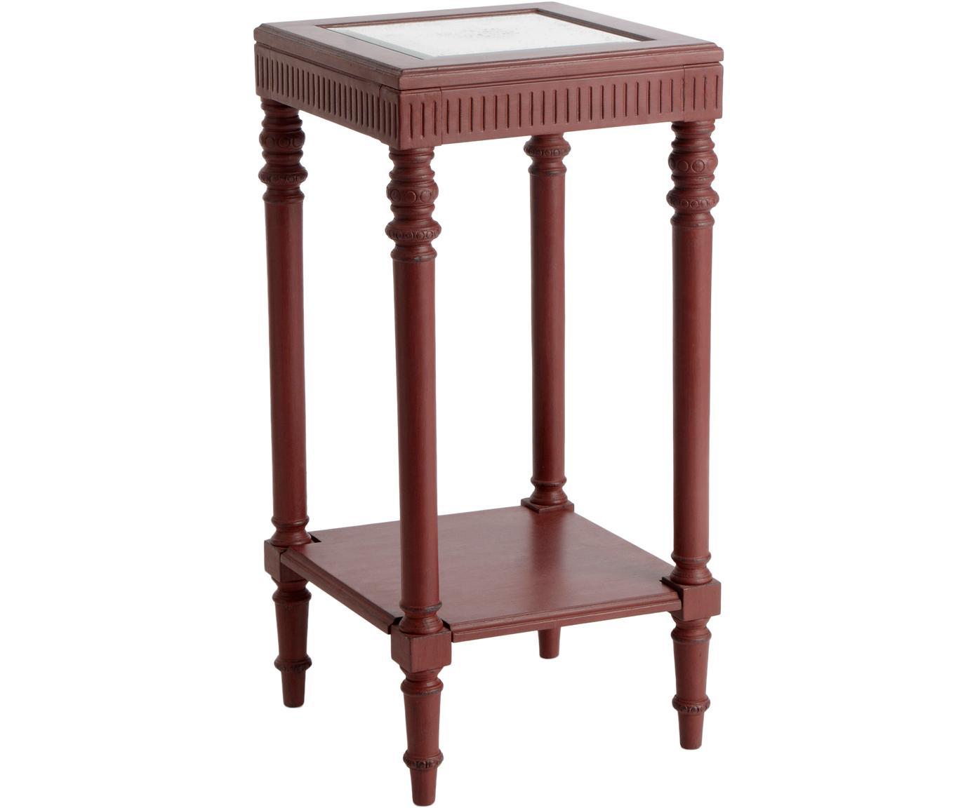 Mesa auxiliar Marsala, Estructura: madera, Tablero: fibras de densidad media , Marrón, An 40 x Al 85 cm