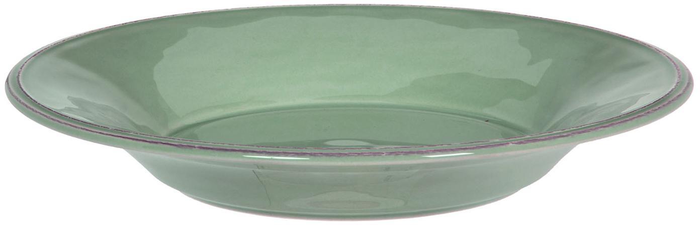 Platos de pasta Constance, 2uds., estilo rústico, Cerámica, Verde salvia, Ø 27 cm
