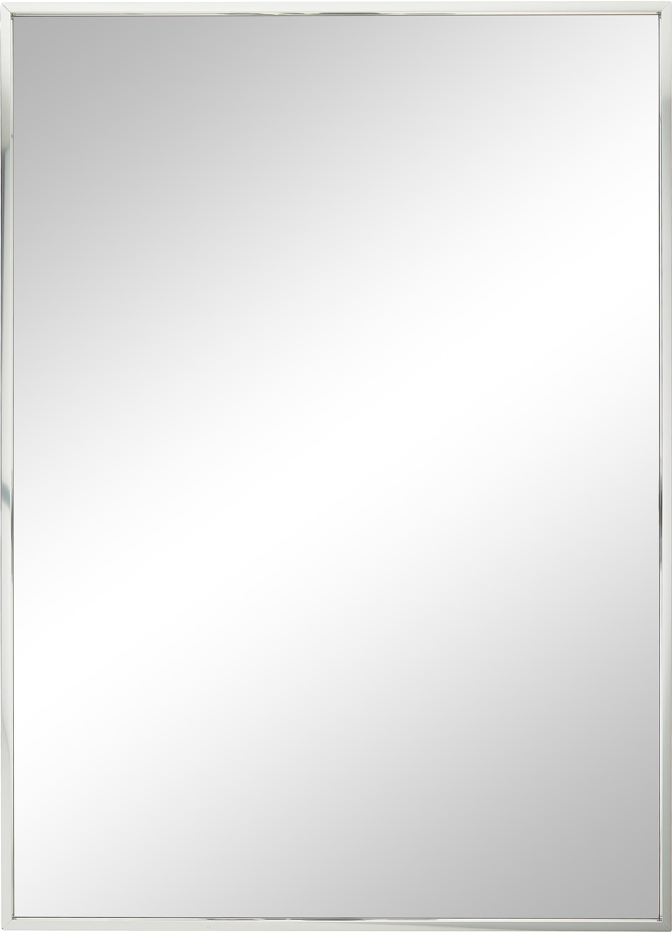 Espejo de pared cuadrado Alpha, Espejo: cristal, Aluminio, An 50 x Al 70 cm