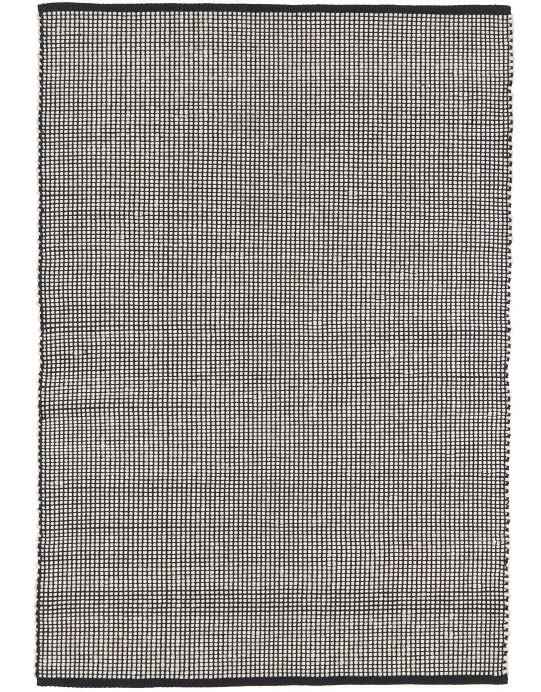 Tappeto in lana tessuto a mano Amaro, Nero, crema, Larg. 160 x Lung. 230 cm (taglia M)