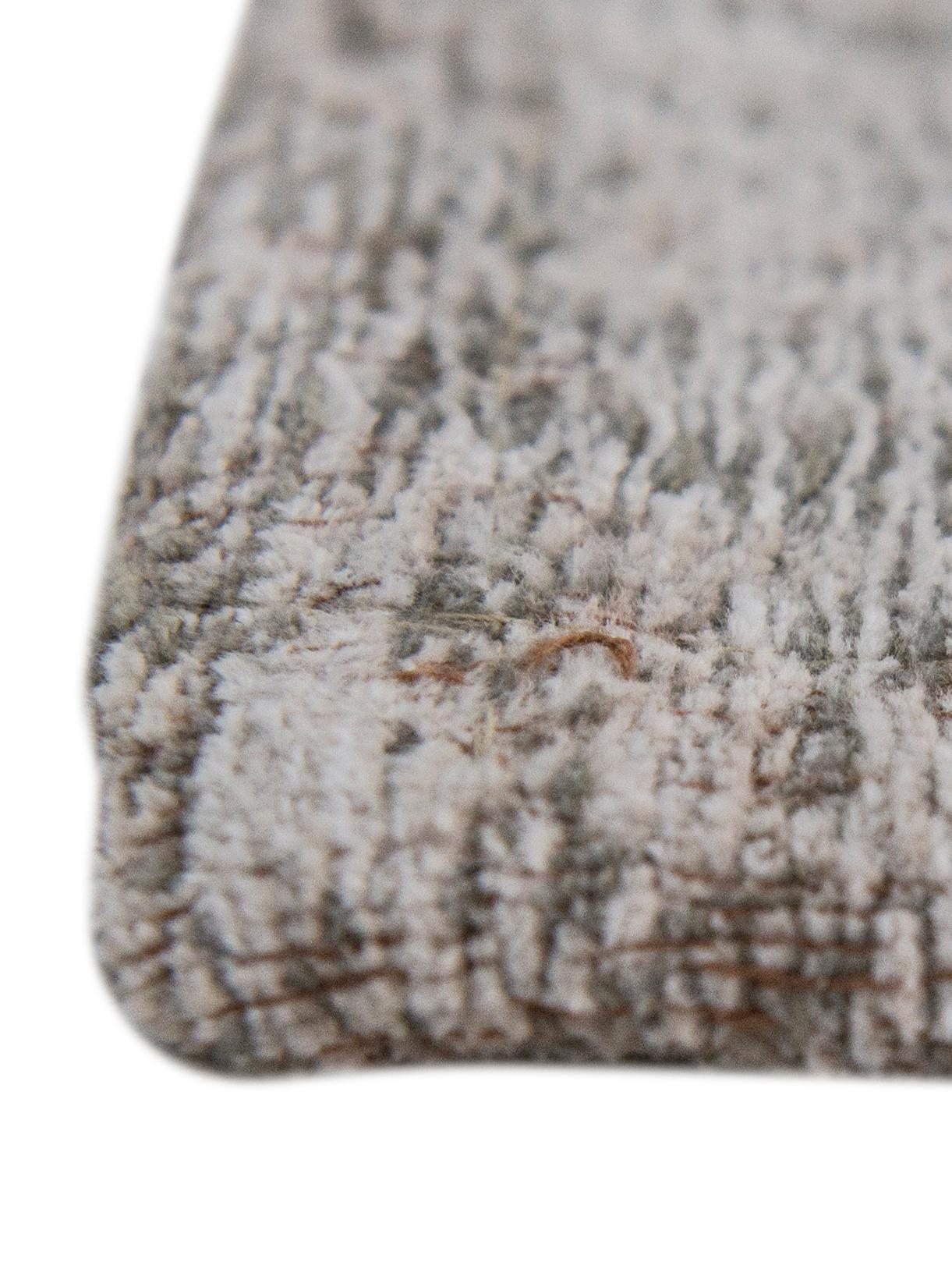 Tapis vintage gris clair Medaillon, Gris clair, brun