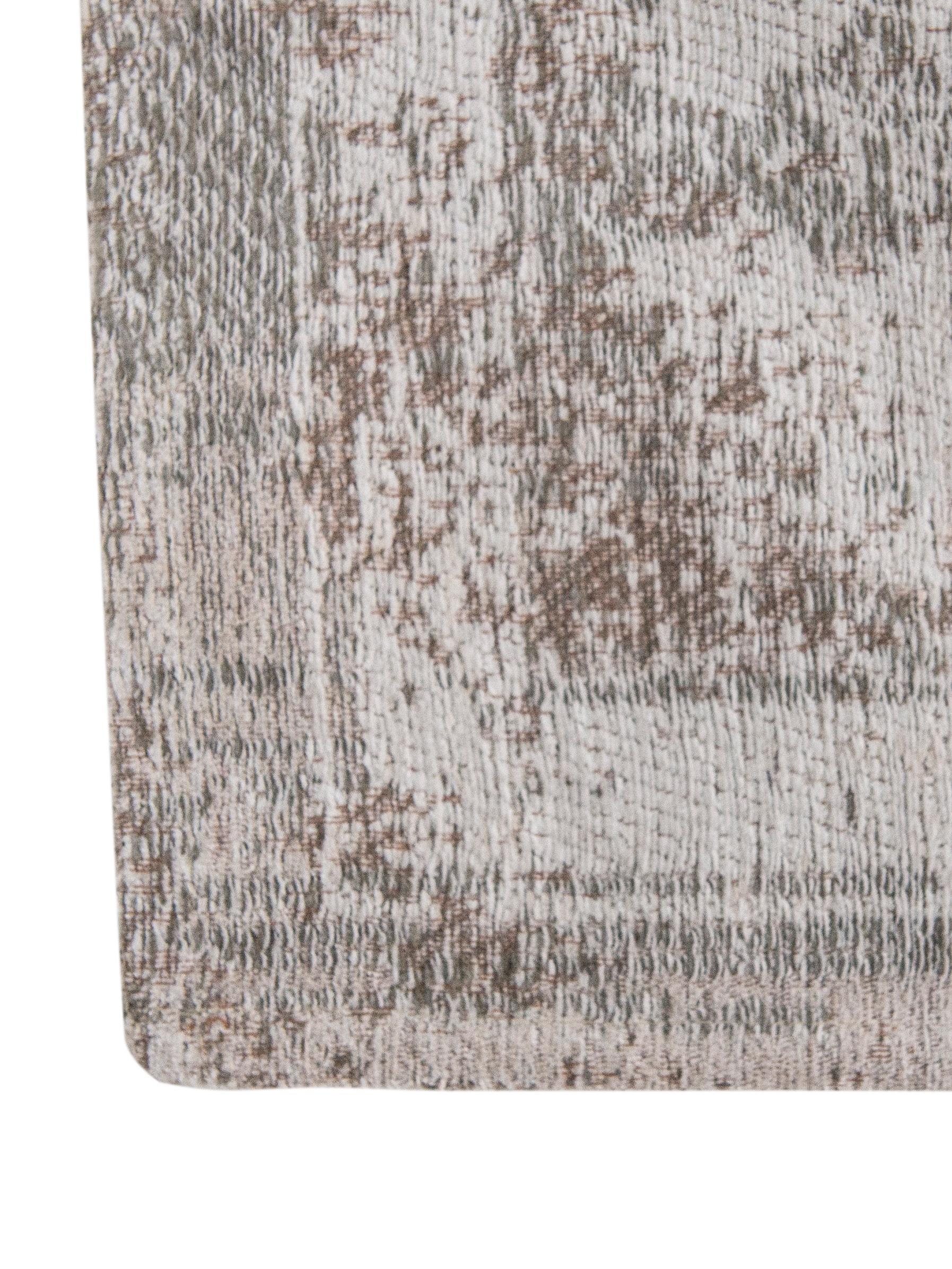 Alfombra de chenilla Medaillon, estilo vintage, Parte superior: 100%chenilla (algodón), Reverso: tejido de chenilla, recub, Gris claro, marrón, An 200 x L 280 cm (Tamaño L)