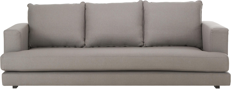 Sofa Tribeca (3-osobowa), Tapicerka: poliester 25000 cykli w , Stelaż: lite drewno sosnowe, Nogi: lite drewno bukowe, lakie, Ciemny szary, S 228 x G 104 cm