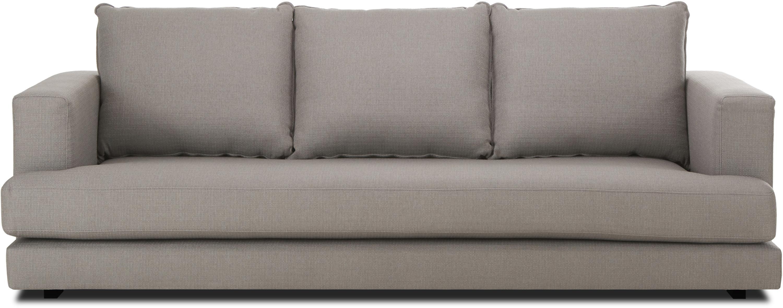 Sofa Tribeca (3-Sitzer), Bezug: Polyester Der hochwertige, Gestell: Massives Kiefernholz, Füße: Massives Buchenholz, lack, Dunkelgrau, B 228 x T 104 cm