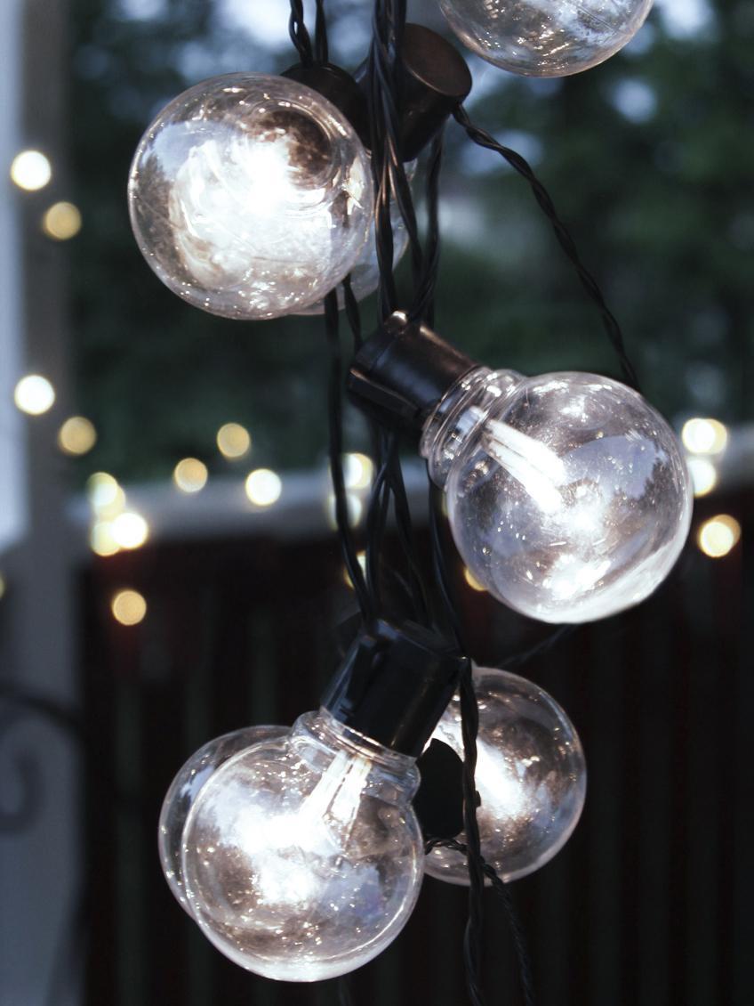 Ghirlanda a LED Partaj, 950 cm, Lampadina: materiale sintetico, Nero, Lung. 500 cm