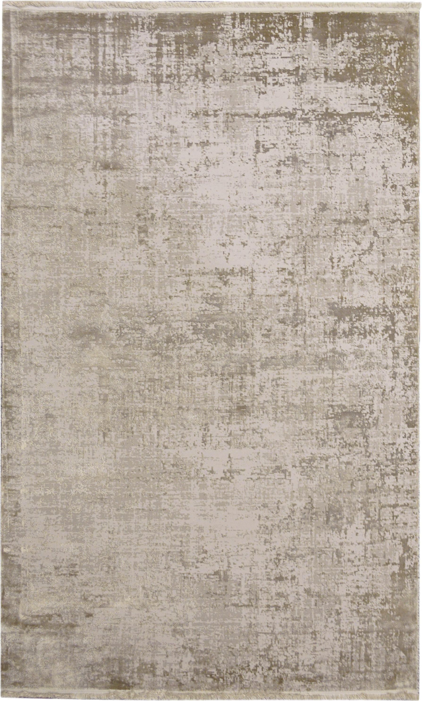 Glanzend vloerkleed Cordoba met franjes, vintage stijl, Bovenzijde: 70% acryl, 30% viscose, Onderzijde: katoen, Beigetinten, B 80 x L 150 cm (maat XS)