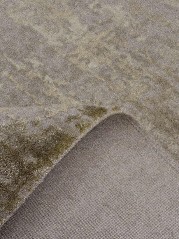 Schimmernder Teppich Cordoba mit Fransen, Vintage Style, Flor: 70% Acryl, 30% Viskose, Beigetöne, B 160 x L 230 cm (Größe M)