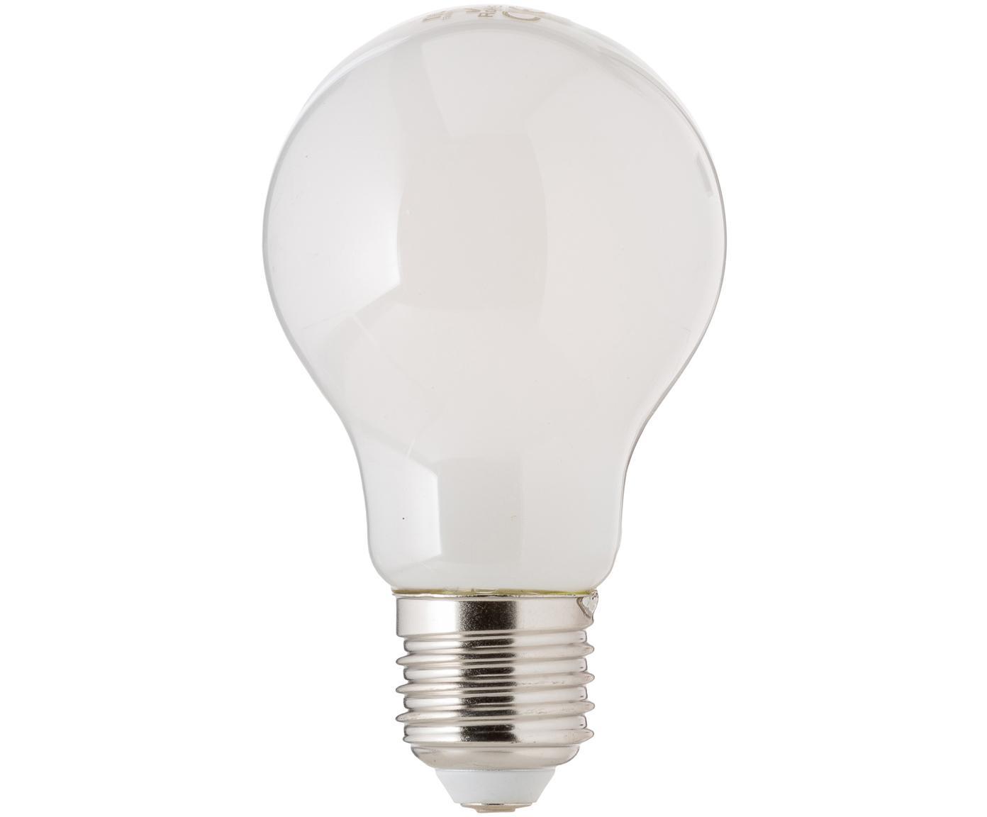 Leuchtmittel Hael (E27/4W), 5 Stück, Leuchtmittelschirm: Opalglas, Leuchtmittelfassung: Aluminium, Weiss, Ø 8 x H 10 cm