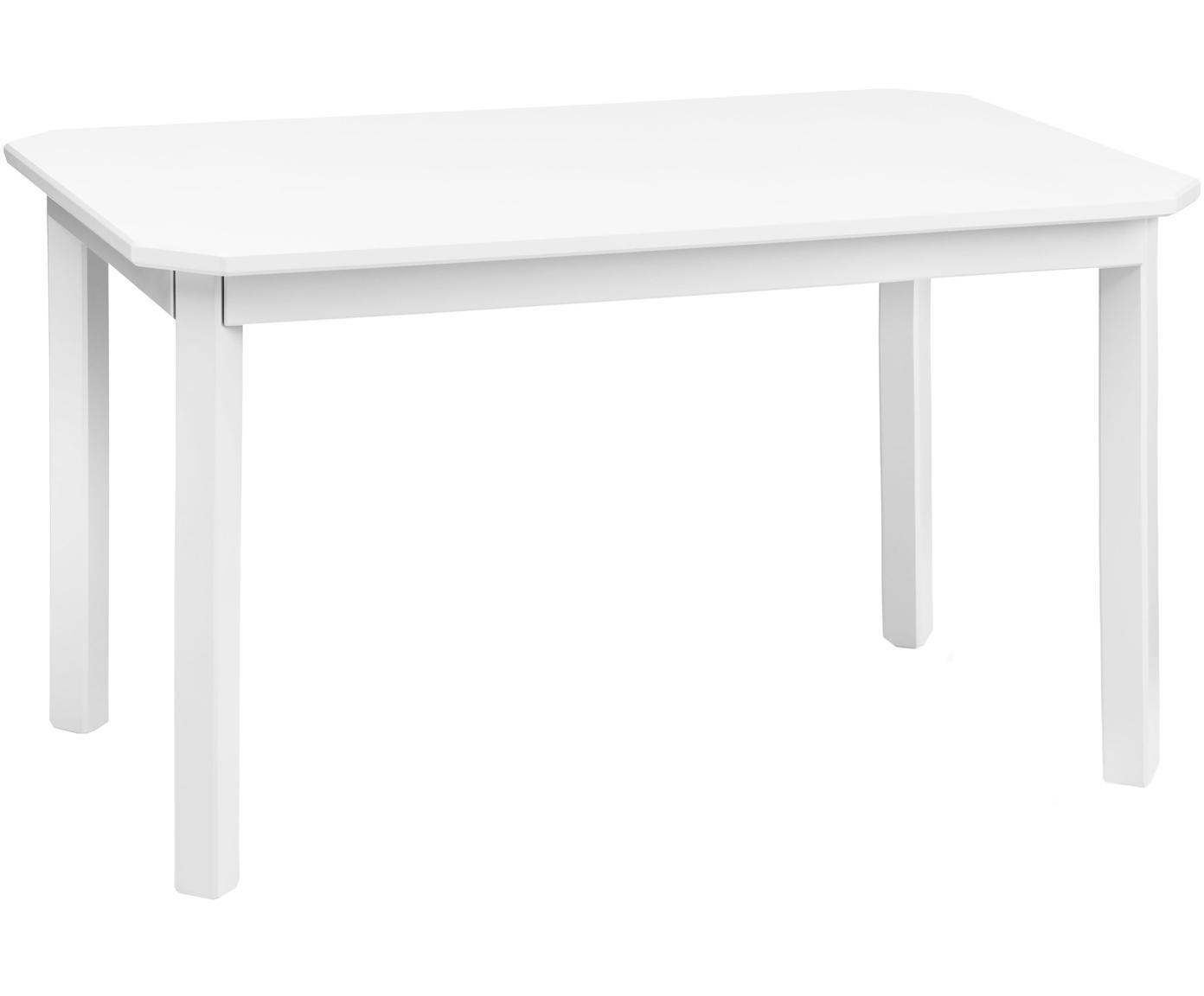 Tavolino per bambini Harlequin, Legno di betulla, pannello di fibra a media densità (MDF) verniciato, Bianco, Larg. 79 x Alt. 47 cm