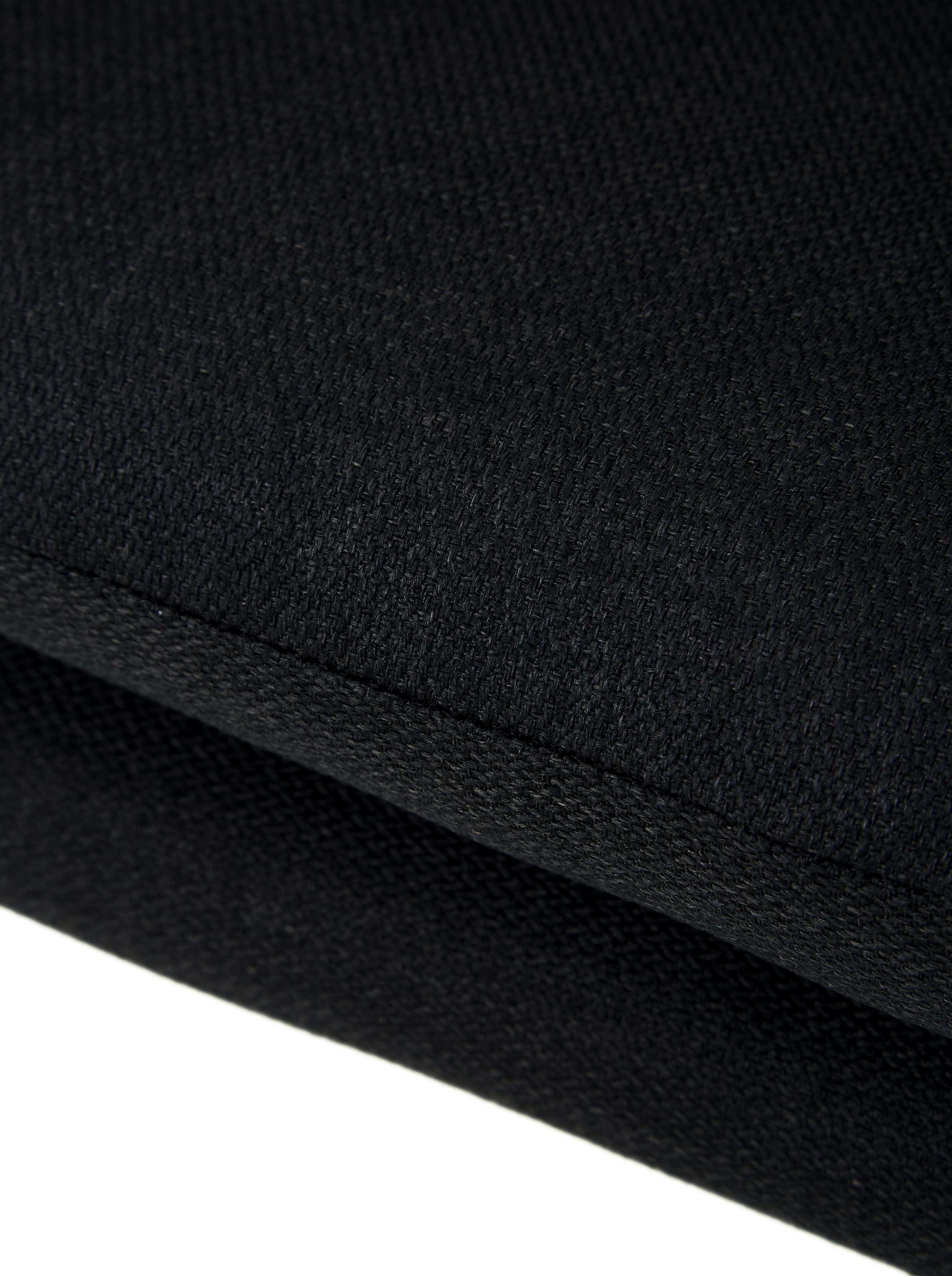 Polsterstuhl Emilia mit Armlehne, Bezug: Polyester, Beine: Eichenholz, ölbehandelt, Webstoff Anthrazit, Beine Eiche, B 57 x T 59 cm