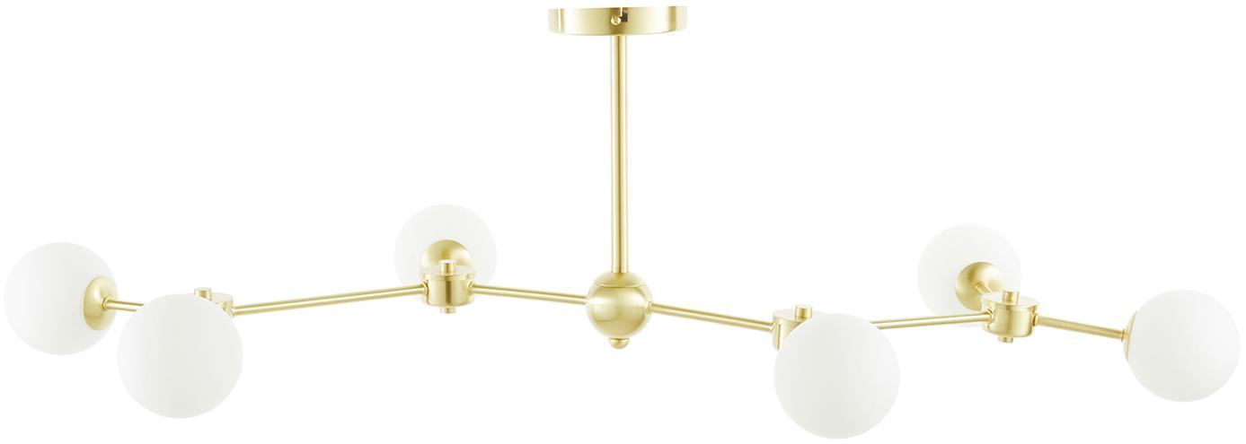 Lámpara de techo Aurelia, Blanco, latón, Ø 110 x Al 32 cm